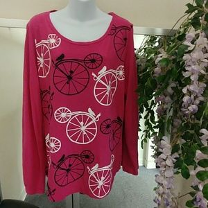 Crown & Ivy Bicycle. 🚲 L/S Authentic Tee 👕